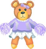 TEDDY BEAR CHEERLEADER Stock Photo