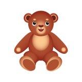 Teddy bear. Children's toy. Brown teddy bear Stock Illustration