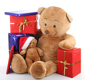 Teddy bear christmas Stock Photos