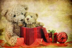 Teddy Bear Christmas Stock Image