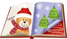 Teddy Bear Christmas Book Immagine Stock Libera da Diritti