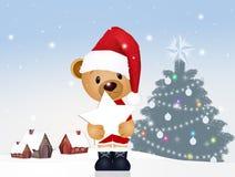 Teddy bear at Christmas. Funny illustration of teddy bear at Christmas vector illustration