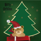 Teddy bear for christmas Stock Image