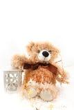 Teddy-bear with christmas lantern Stock Photography