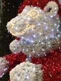 Teddy Bear Christmas Lights Royalty Free Stock Image