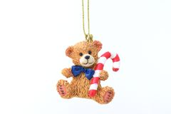 Teddy bear for the christmas tree Royalty Free Stock Photo