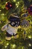 Teddy Bear Christmas Tree sveglio Immagine Stock