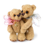 Teddy bear in classic vintage style. On white background stock photography