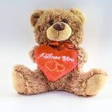 Teddy Bear. Close-up isolated. royalty free stock photos