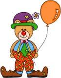 Teddy Bear Clown royalty illustrazione gratis