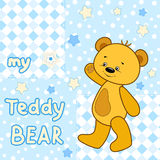 Teddy bear on the colorfull background. Royalty Free Stock Photo