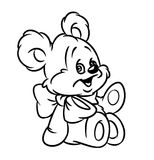 Teddy-bear coloring page Royalty Free Stock Images