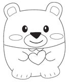 Teddy bear coloring page Royalty Free Stock Photography