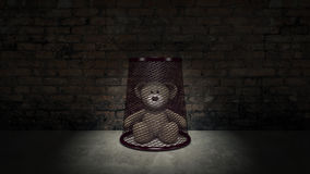 Teddy bear - Concept of child abuse Stock Image