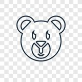 Teddy bear concept vector linear icon isolated on transparent ba. Ckground, Teddy bear concept transparency concept in outline style royalty free illustration