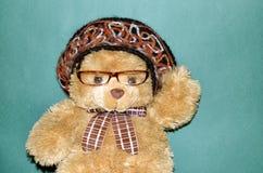 Teddy bear on the couch. Toy birthday wife stock photos