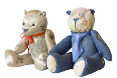 Teddy bear couple Royalty Free Stock Photos