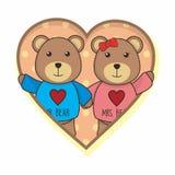 Teddy Bear Couple Vector mignon illustration libre de droits