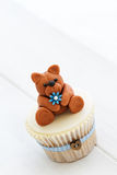 Teddy bear cupcake Stock Photography