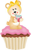 Teddy Bear Cupcake Stock Photo