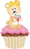 Teddy Bear Cupcake Stock Photo