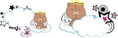 Teddy bear cute baby plush angel cartoon cloud Royalty Free Stock Photos