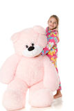 With a teddy bear Royalty Free Stock Image
