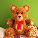 Teddy Bear 3d illustration. Over white background Royalty Free Stock Image