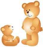 Teddy bear dad with son Stock Photo