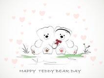 Teddy Bear Day felice Immagine Stock Libera da Diritti