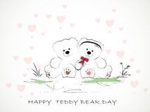 Teddy Bear Day heureux Image libre de droits