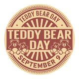Teddy Bear Day, le 9 septembre Illustration Libre de Droits