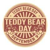 Teddy Bear Day, le 9 septembre illustration libre de droits