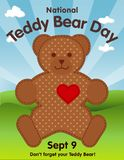 Teddy Bear Day, National Holiday on September 9 royalty free stock photo