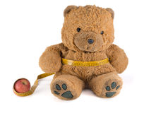 Teddy Bear on a diet Stock Image