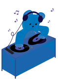 Teddy bear dj Stock Image