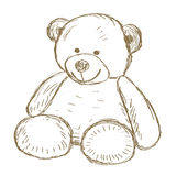 Teddy bear doodle Vector Royalty Free Stock Photography