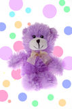Teddy bear with dot background Stock Photos