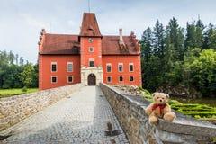 Teddy bear Dranik near Cervena Lhota castle. Czech Republic royalty free stock photos