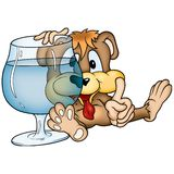Teddy Bear and drink Royalty Free Stock Photo