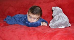 teddy bear dziecka obrazy stock