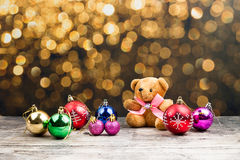 Teddy Bear e ornamento do Natal Foto de Stock Royalty Free