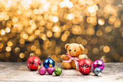 Teddy Bear e ornamento do Natal Imagem de Stock