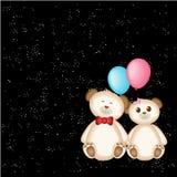 Teddy Bear e palloni Fotografie Stock Libere da Diritti