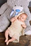 Teddy Bear en Baby Stock Afbeelding