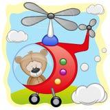 Teddy Bear en helicóptero Fotografía de archivo