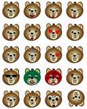Teddy bear face emoticon. Cute teddy bear emoticon.  Royalty Free Stock Photography