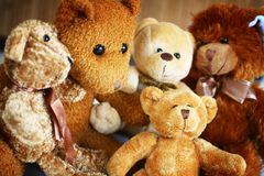 Teddy bear familly Stock Photo