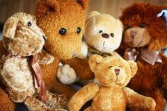 Teddy bear familly Stock Photo