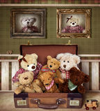 Teddy Bear Family. In Child Room Royalty Free Stock Images